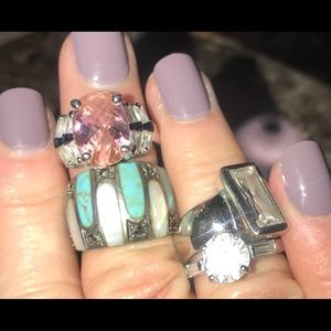 Assorted rings size 6 1/2 to 7